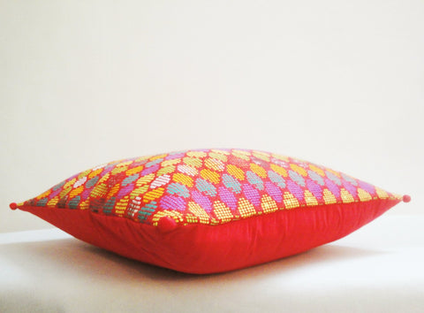Colourful Geometric Woven Pillow Cover