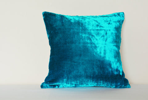 Turquoise Velvet Cushion Cover