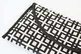 Geometric Black and White Jacquard Clutch
