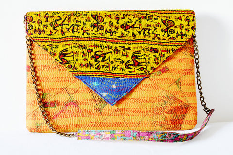 Over Sized Vintage Kantha Clutch