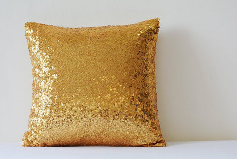 Shiny 24 Ct Gold Pillow Cover