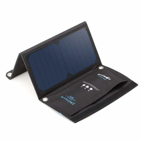 15W Foldable Portable Solar Panel Cellphone Charger - GalaxyDeals