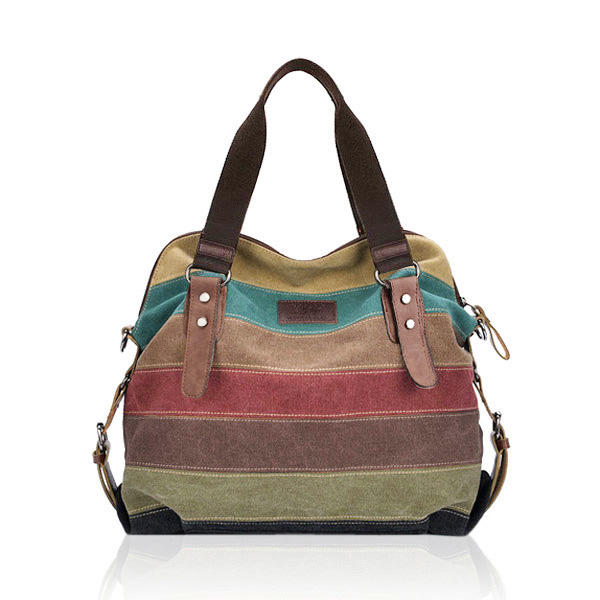 Women Canvas Leather Handbag - GalaxyDeals