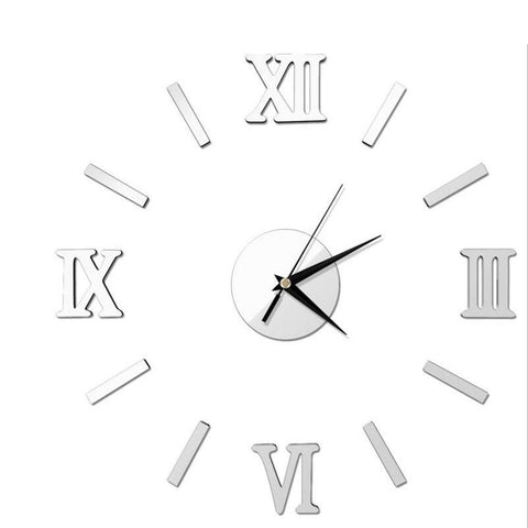 Creative 3D Mirror Wall Quartz Clock - GalaxyDeals