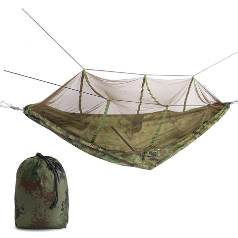 Portable Double Person Hammock Bed With Mosquito Net - GalaxyDeals