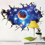 3D Outer Space Galaxy Wall Decal Sticker - GalaxyDeals
