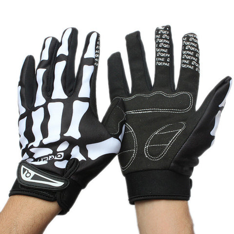 Motorcycle Skeleton Bone Bike Gloves