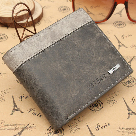 Men's Leather Bifold Wallet - GalaxyDeals