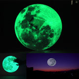 Moon Glow In The Dark Wall Decal Sticker - GalaxyDeals