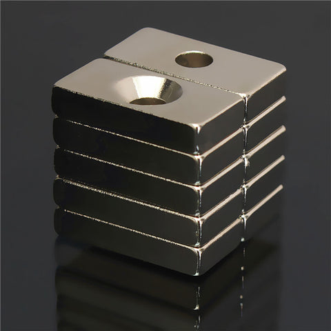 10pcs 20x10x4mm N50 Hole Block Rare Earth Neodymium Magnets - GalaxyDeals
