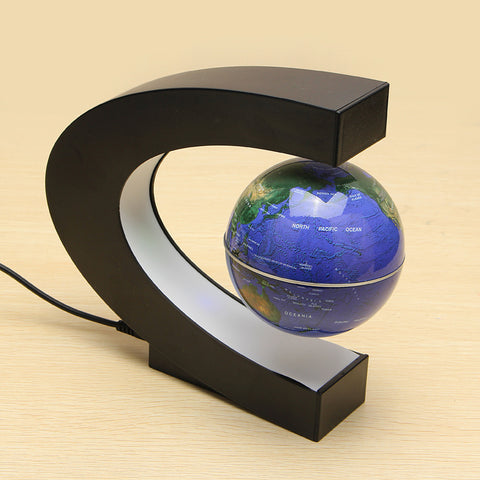 C Shape Magnetic Levitation Floating World Globe - GalaxyDeals