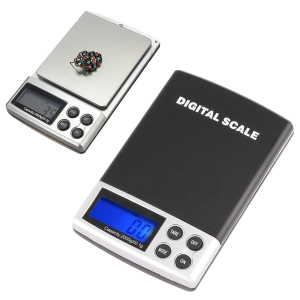 2000g x 0.1g Digital Jewelry Pocket Scale - GalaxyDeals