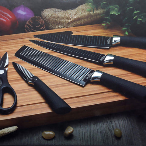 Stainless Steel Kitchen Chef Knife Set - GalaxyDeals