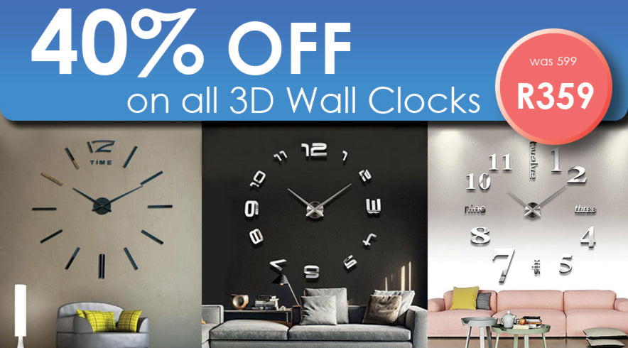 Wall Clock Sale @ galaxydeals.co.za