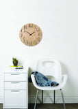 Shadow Wall Clock Natural