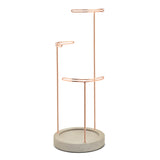 Tesora jewellery stand copper/concrete
