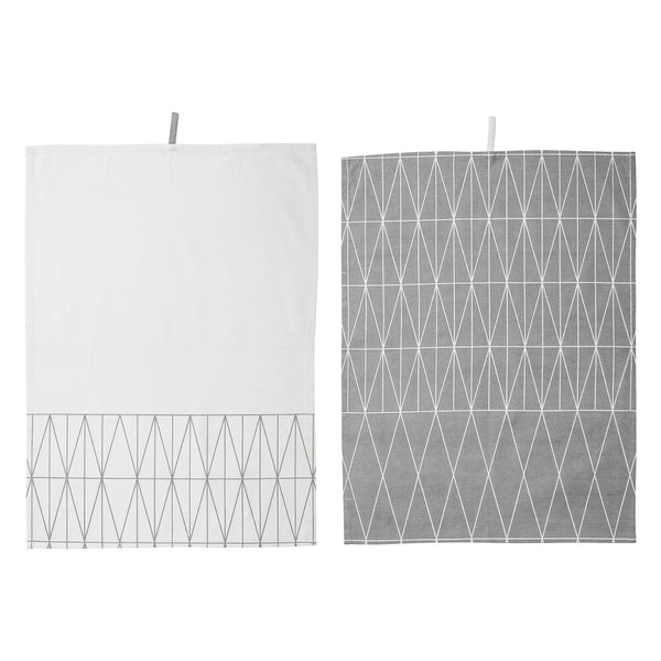 Kitchen Towels Grey set of 2