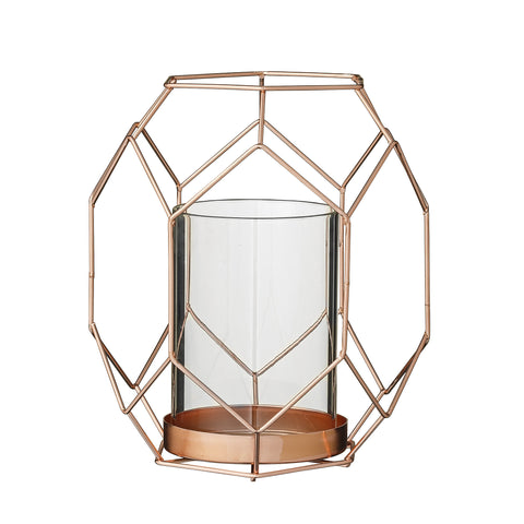 Geometric Candlestand copper
