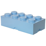 Lego storage box light blue 8