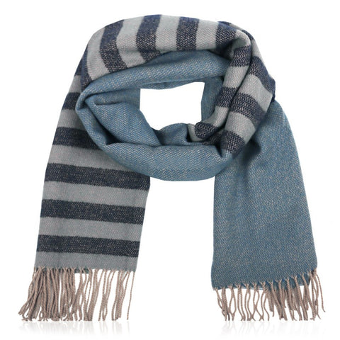 Striped Scarf Blue