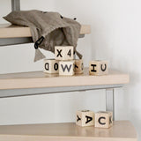Alphabet blocks - black