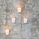 Feeling candle light holder with quote