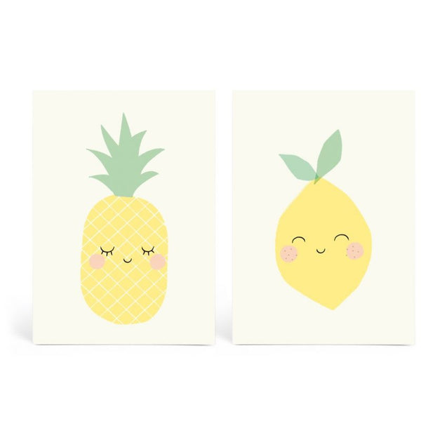 Yellow Friends Set of 2 Postcard