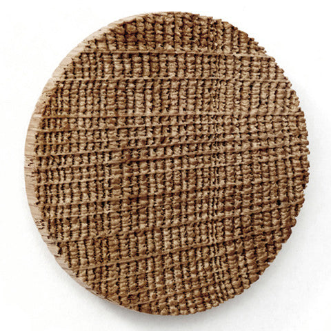 Brooch Dot sand-blasted oak wood