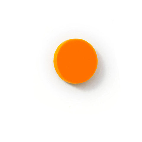 Brooch Dot glowing flu orange