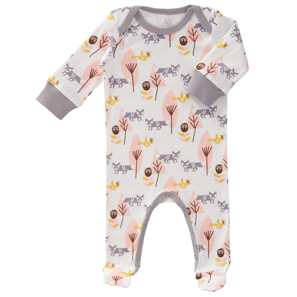 Pyjamas with feet Fox pink