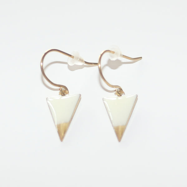 Earrings Triangle White