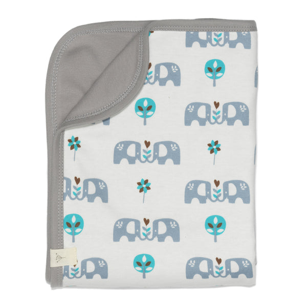 Blanket Elephant blue