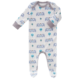 Pyjamas with feet Elephant blue