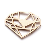Brooch wooden diamond