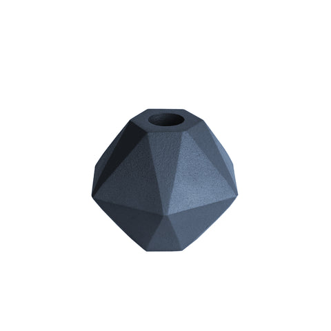 Candle Holder Hexagon Night Blue