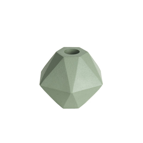 Candle Holder Hexagon Mint Green