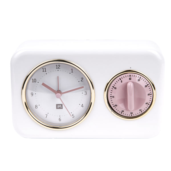 Clock with kitchen timer