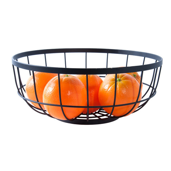 Fruit Basket Open Grid Black