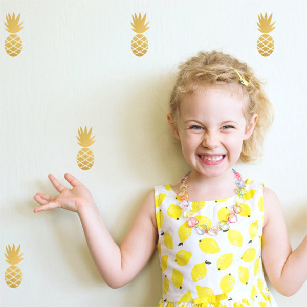 Pineapple Wall Stickers Gold
