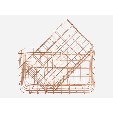 Basket Simply copper set of 2 sizes L