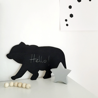 Bear Shaped Chalkboard