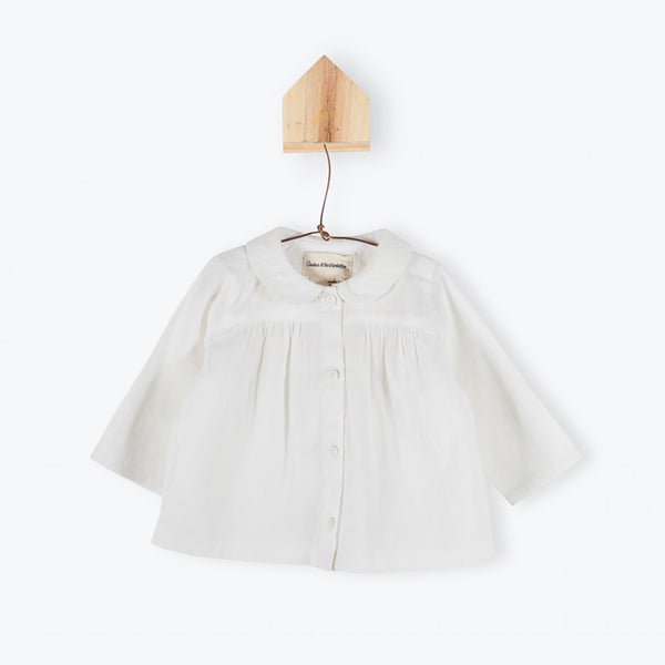 Off-white baby cotton blouse