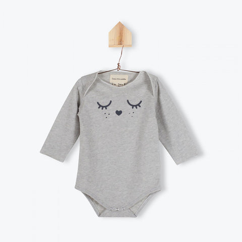 Grey cats jersey baby bodysuit