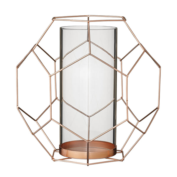Geometric Candlestand copper Large