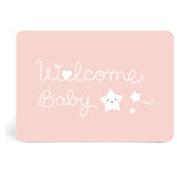 Welcome Baby Pink Postcard