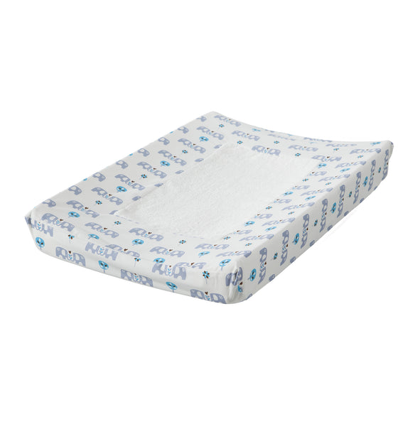 Changing pad cover Elephant blue