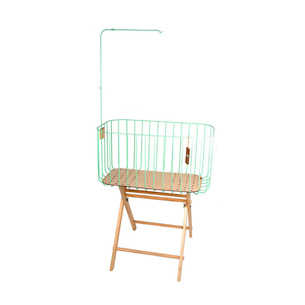Baby Crib Mint Green