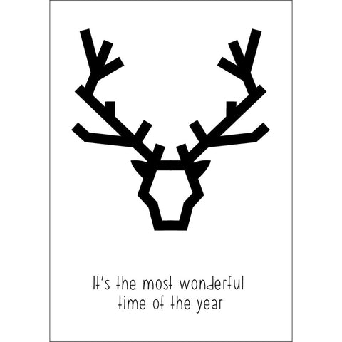 Christmas postcard deer It's the most