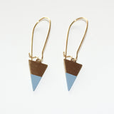 Earrings Triangle Lightblue