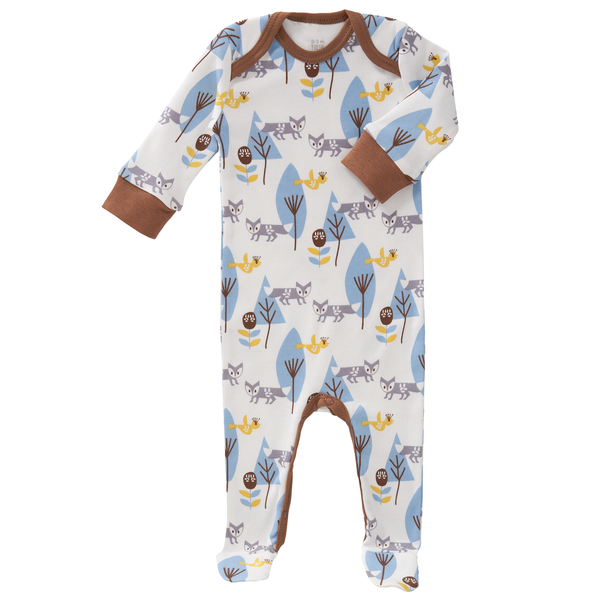 Pyjamas with feet Fox blue